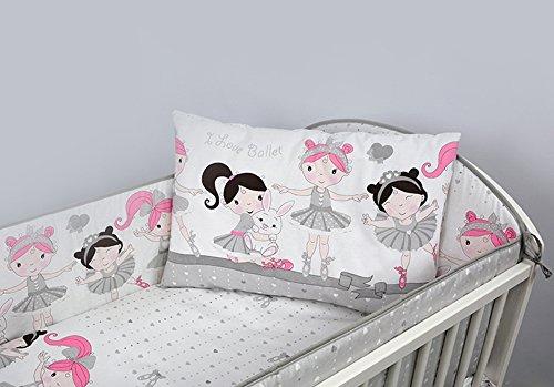 6 pièces Chambre Parure de lit pour lit bébé 140x70 cm - motif 10