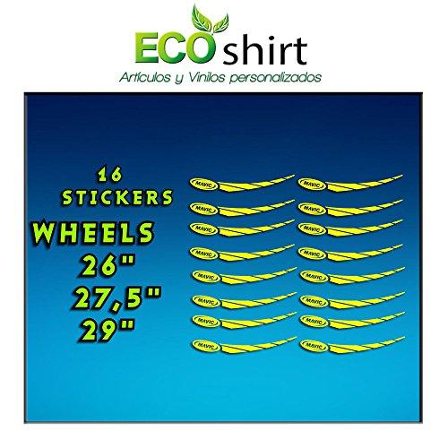 Ecoshirt R2-0MFG-T7VY Pegatinas Stickers Llanta Rim Mavic 26' 27,5' 29' Am43 MTB Downhill, Multicolor, 180 x 15 mm