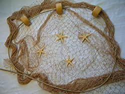 10 X 9 Fishing Net, Fish Net, Netting,Rope, Starfish, Floats, Nautical Decor