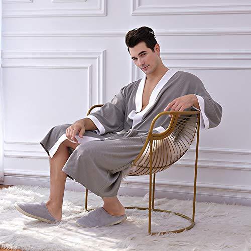 Handaxian Baumwolle Herren Nachthemd Fünf-Sterne-Hotel Pyjama Schweiß Sauna Bademantel
