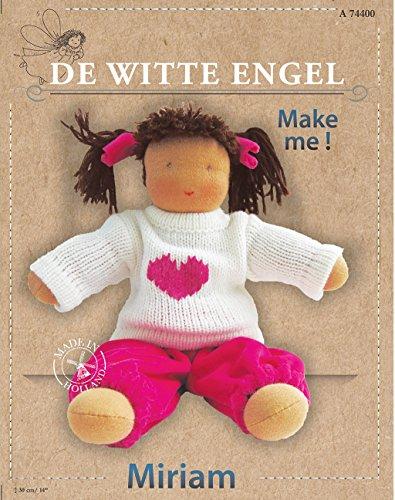 De Witte Engel Miriam DIY Paquete de Kit de muñeca Waldorf Estilo, de Fieltro, Multicolor, 26,5x 20,5x 8cm