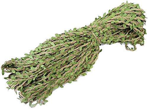 XIUWOUG Cinta de yute natural de 333 pies de 5 mm de arpillera artificial para bodas o jardines de casa