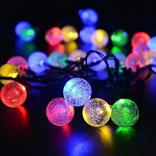 Solar String Lights Outdoor Waterproof - 2 Pack 50 LED Solar Garden Lights, 8 Modes Solar Fairy Lights for Patio Garden Yard, Christmas Decoration Lights