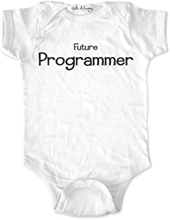 cuteandfunnykids Future Programmer - Cute & Funny Baby one Piece Bodysuit Birth Announcement