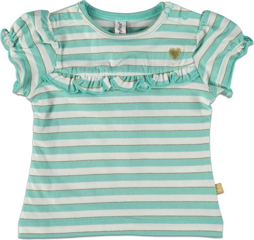 Babyface Bébé Fille T-Shirt rayé Or, Vert, Taille 68