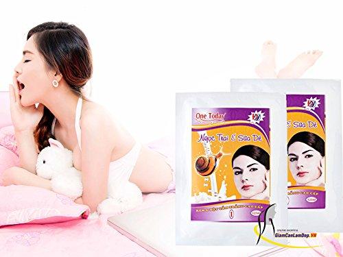 4 bags 125gram - Bột Tắm Trắng Ngọc Trai và Sữa Dê Cao Cấp 125ml One Today