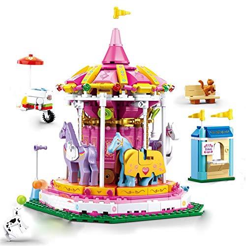 Bloques de construcción 762 Piezas Coloridas Vacaciones Princesa Fantasía Carrusel Bloques De Construcción Ciudad Niñas Amigos Parque Divertido Juguetes Modelo Niños Regalos De Navidad