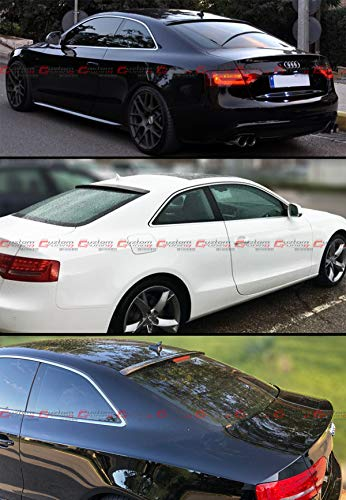 Cuztom Tuning VIP Carbon Fiber Rear Roof Window Spoiler Wing Compatible for 2009-2017 Audi A5 Quattro S5 RS5