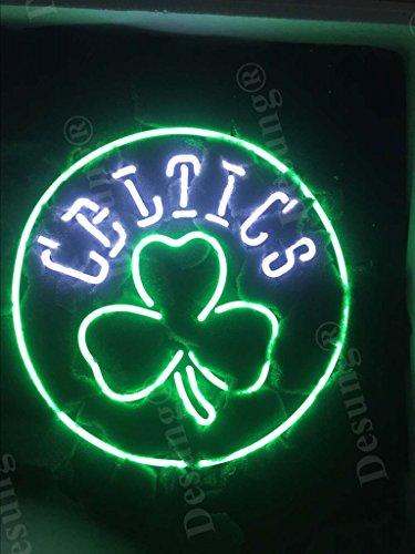 Desung Brand New 17'x17' Boston Sports Team Celtic Shamrock Logo Neon Sign (Various sizes) Beer Bar Pub Man Cave Business Glass Neon Lamp Light DB277