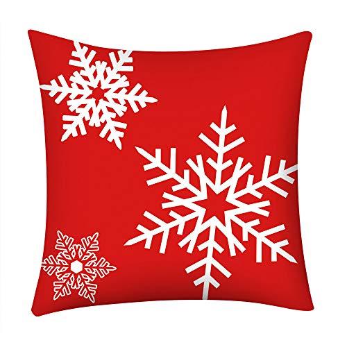 YUTO Funda de cojín de poliéster con estampado de Navidad, para sofá, coche, decoración del hogar, decoración de Navidad, decoración de fiesta, regalo para niños y adultos (B)