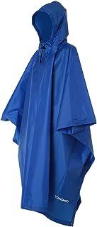 TOMSHOO, Poncho de Lluvia con Capucha Chubasquero Impermeable Ligero Multifuncional como Toldo Manta Estera de Camping para Senderismo Ciclismo Unisex