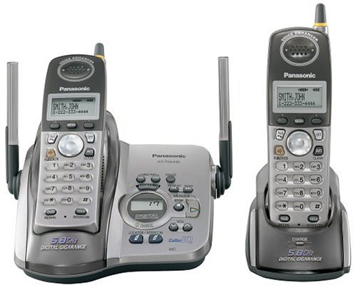 Panasonic KX-TG5432M 5.8 GHz Platinum Cordless Phone with Answering System and Dual Handsets