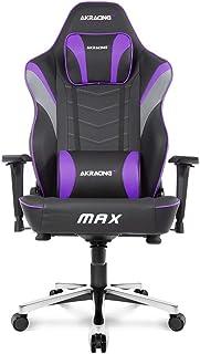 AKRacing Master Series MAX Gaming Chair with Wide Flat Seat, Indigo - PC/ Mac/ Linux