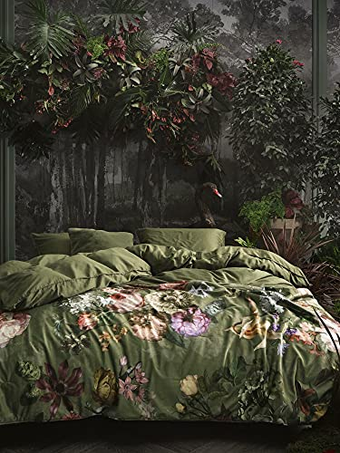 ESSENZA Quilt Fleur Blumen Pfingstrosen Tulpen Polyester Moss, 220x265 cm