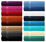 Lashuma BlueC Premier Line 6 teiliges Waschtuch Set, Handtuch Farbe: Türkis - Turquoise, Kleine...