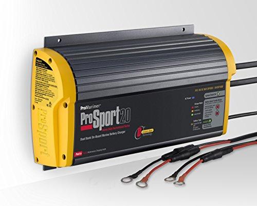 ProMariner Gen 3 ProSport 20 Amp 12/24 Volt 2 Bank Waterproof Marine Battery Charger 43020