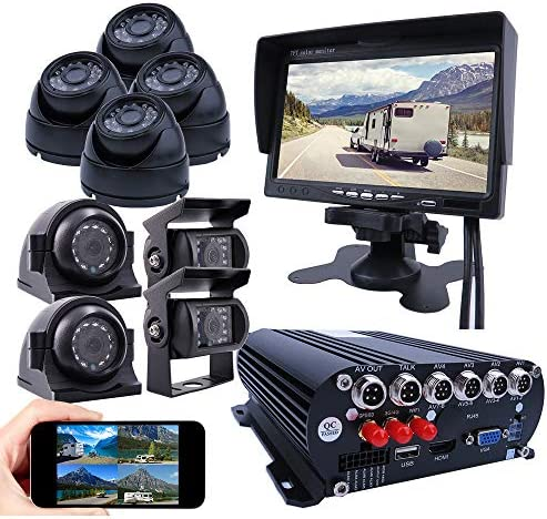 JOINLGO 8 Channel Mobile DVR Backup Camera System Remote Monitor on PC Phone GPS WiFi 4G 1080N product image