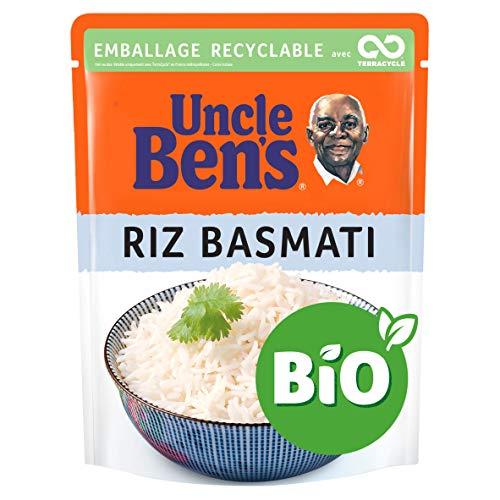 UNCLE BEN'S Riz Basmati Certifie Bio Express Micro-Ondable 2 Minutes (lot of 6 x240g )