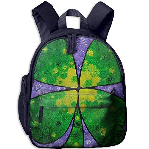 Four Leaf Clover Painting Funny Kids Bags Boys and Girls School Backpack