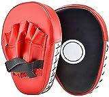 YIQI Boxer Target di Arco Boxing Sanda Taekwondo Piede Bersaglio a Mano Obiettivo a Mano Bambini Adulti Scudo Striking Target Pad Hitters Guanti da passata per Scudo Boxing,