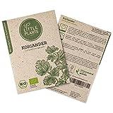 Little Plants BIO-Koriandersamen (Coriandrum sativum)   BIO-Kräutersamen   Nachhaltige Verpackung aus Graspapier   Kräuter-Samen   BIO-Saatgut für ca. 130 Koriander-Pflanzen