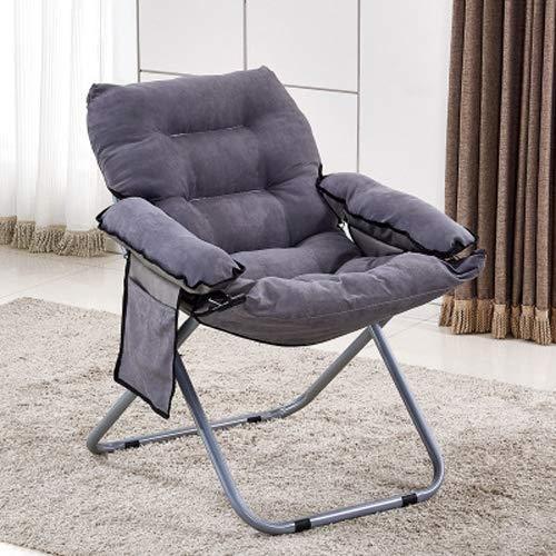 Hmg Creative Lazy Sofá Plegable Sala de Estar Sofá Individual Silla Tatami Lounge Chair (Café) (Color : Grey)