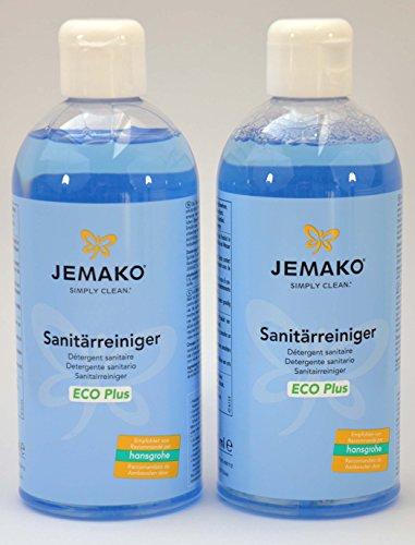 1 Liter Jemako Sanitärreiniger ECO Plus 2 x 500ml Schaumpumpe