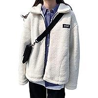 Porin ボア ボアブルゾン ボアジャケット コート レディース 冬 防寒 大きいサイズ ゆったり おしゃれ (ホワイト)