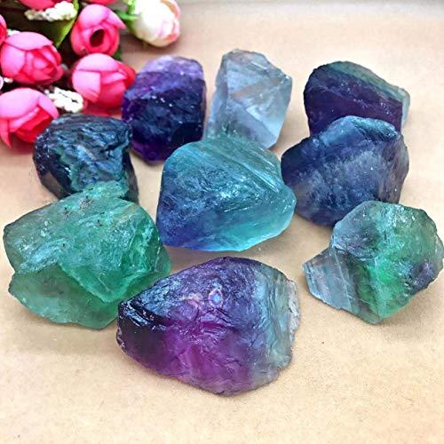htrdjhrjy Natural Fluorita Cristal de Cuarzo Piedras Áspero Pulido Grava Muestra para Decoración del Hogar - 3.5-5cm