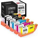 5 LEMERO PGI-580 CLI-581 XXL Cartouches d'encre Compatible pour Canon PIXMA TS6150...
