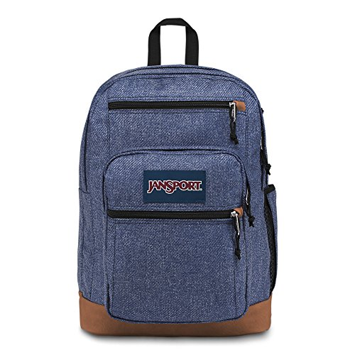 JanSport Cool Student Laptop Backpack - Blue Heathered Twill