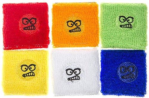 Schnooridoo 12 x Schweißband Gesichter 7x7 cm Armband Party Mitgebsel Kindergeburtstag Give Away