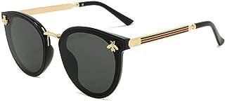 Mingi - Mingi Gafas de Sol Gafas de Sol Verde Rojo Abeja Gafas Vintage Gafas de Sol Retro Gafas de Sol Gafas de Sol Redondas, C1