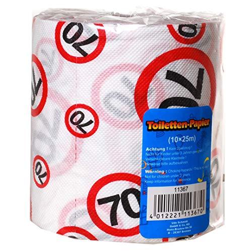 1 Rolle Toilettenpapier 70 Jahre Geschenk für den Geburtstag Länge 25m Klopapier