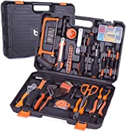 Practical Tool Set-With most necessary tools, the tool set for home includes adjustable wrench, pliers, digital electrical pen test, screwdrivers, insulation tape, LED flashlight,etc. Perfect for repairmen, workers, mechanics, shops to use in home, g...