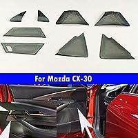 車内ドアデコレーションカーオーディオデコレーションフレームブラック 適している For Mazda CX-30 2020-2021 2022