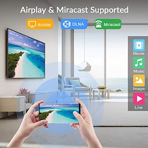 Android tv Box 10.0, [4G RAM+ 32G ROM] H616 Quad-Core 64 Bits mit Dual 2.4G/5.8G WiFi, BT 5.0 UHD H.265 Ethernet LAN Unterstützung 3D 6K TV Box mit hintergrundbeleuchtete Tastatur Set Top TV Box