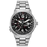 Citizen Eco-Drive Promaster Nighthawk Quartz Mens Watch, Stainless Steel, Pilot watch, Silver-Tone...