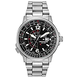 Citizen Watches BJ7000-52E Eco-Drive Nighthawk Stainless Steel Watch