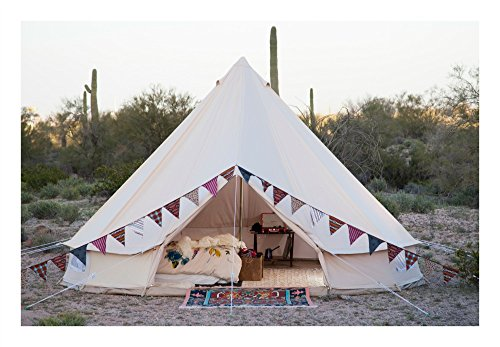 Stout Bell Tent 100% Cotton Canvas 4M 5M (PRO Edition Double Wall, 16.4ft (5M))