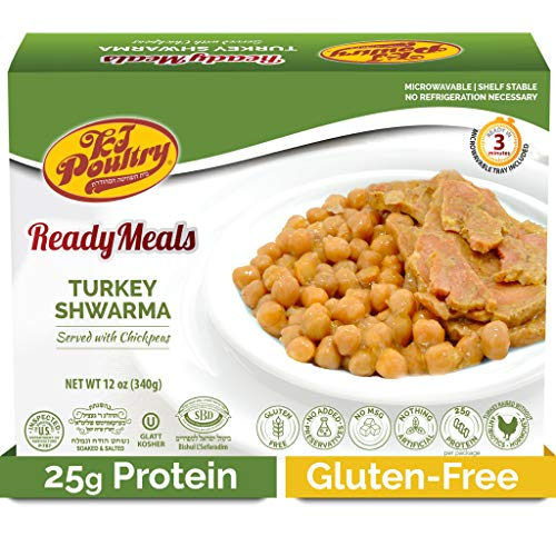 Kosher Turkey Shawarma, MRE Meat Meals Ready to Eat, Gluten Free (1 Pack) - Prepared Entree Fully Cooked, Shelf Stable Microwave Dinner – Travel, Military, Camping, Emergency Survival Protein Food Kit