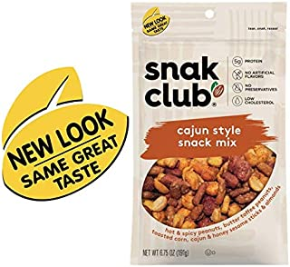 Snak Club All Natural Cajun Style Snack Mix, 6.75-Ounces, 6-Pack…