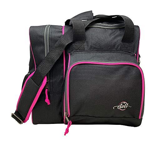 SaVi Bowlingtasche für 1 Bowlingball, 1 Paar Bowlingschuhe und 1 Fronttasche