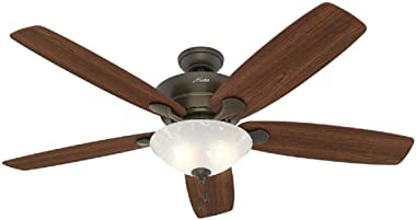 "Hunter 60"" Regalia New Bronze Ceiling Fan with Light"