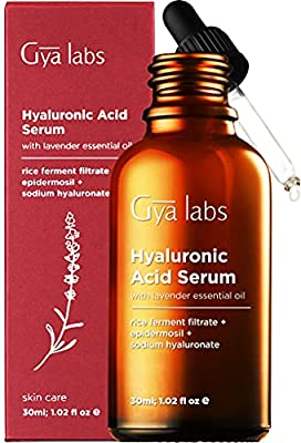 Gya Labs Hyaluronic Acid Serum For Face - Calming Lavender For Smooth, Plump Skin - Hydrating Face Moisturizer For Dry Skin - Rejuvenating Face Serum For Mature Skin Care - 30ml