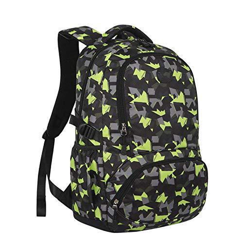 Nuobaby rugzak voor wandelen en reizen, multifunctioneel, sportieve rugzak, trekkingrugzak, laptoptas voor buiten reizen, groen
