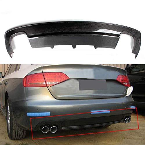 HYCy Real Carbon Fiber Auto Hecklippe Heckstoßstange Diffusor Spoiler Stoßstangenschutz für Audi A4 B8 Sline S4 2013-2016, Autozubehör