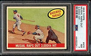 1959 Topps #470 Stan Musial IA Cardinals PSA 7 NM 372511 Kit Young Cards