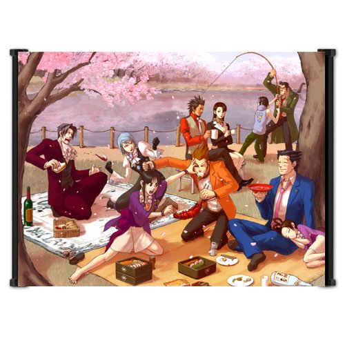 Ace Attorney Phoenix Wright Video Game Fabric Wall Scroll Poster (42' x 31') Inches