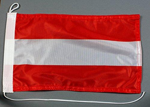 Buddel-Bini Bootsflagge Österreich 20 x 30 cm in Profiqualität Flagge Motorradflagge